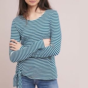 Anthropologie T.la Stripe Side Tie Long Sleeve